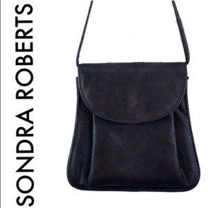 SONDRA ROBERTS BLACK CROSSBODY BAG